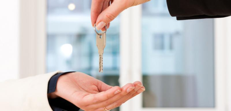 Handing over keys to your new home!